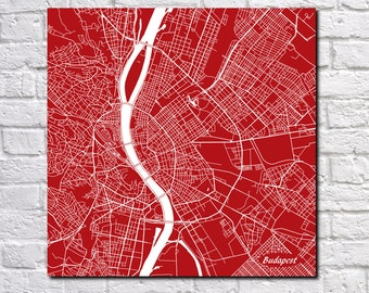 Budapest Street Map Print Map of Budapest Street Map Budapest Poster Hungarian Art 7081S
