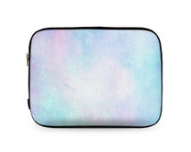 "Blue Pink Purple Tie Dye Haze Paper Neoprene Laptop Sleeve 9""/10"" 12""/13"" MacBook PC Carry Case Bag Cover  \ ls-bj132"