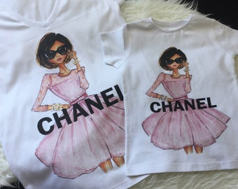 Chanel Pink Dress Custom T-Shirt