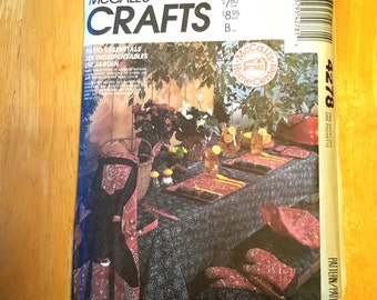 Boss sewing McCall's crafts, apron kitchen, insulating gloves, chair covers, tablecloth and placemats, patio, boss 4278 set