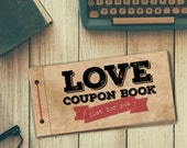 Love Coupon Book for Him | PRINTABLE | DIY Valentine's Day Gift | Digital PDF File | Blanks Included to Write Your Own | Husband | Boyfriend