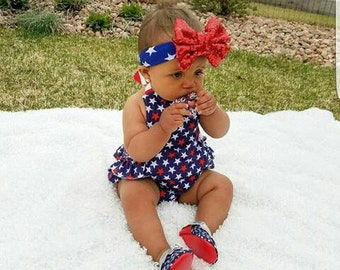 Stars and Stripes baby romper.