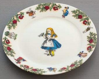 Alice In Wonderland Salad Plate