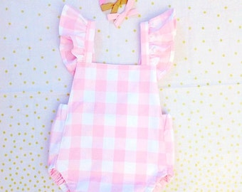 Baby Romper with Fluffy sleeves ! Toddler Romper !! With Low back !!