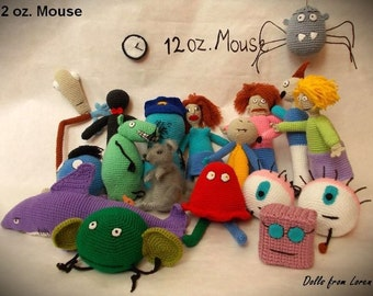 Set 12 oz. Mouse All Characters Crochet Toys MADE TO ORDER