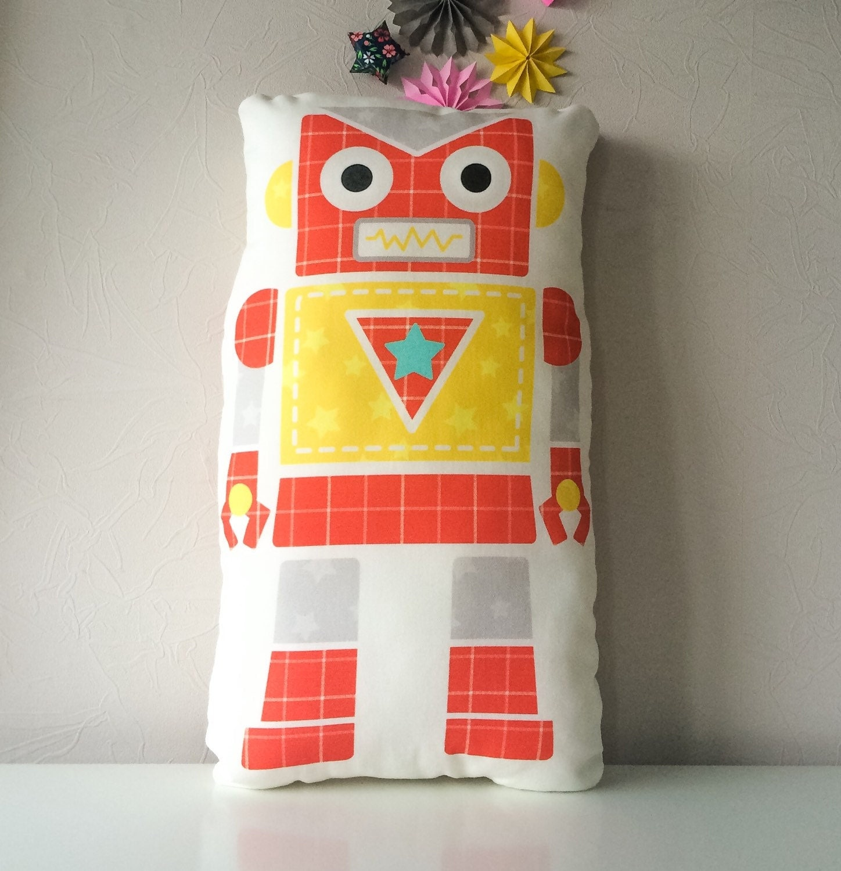 Robot pillow decorative pillows kids pillow robot by BeTheOriginal