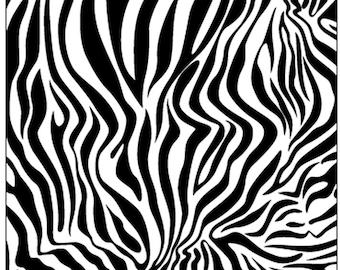 Black and White Zebra Print Beach Towel