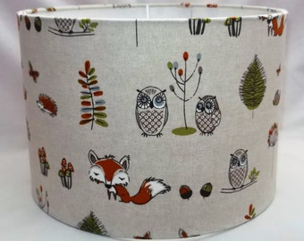 Handmade lampshade - Woodland Fox