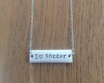I Love Soccer Necklace