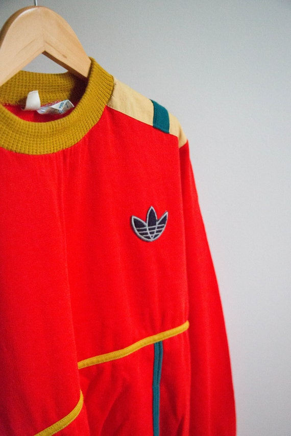 1973 Rare Vintage Adidas Sweat Shirt Made In France Sweater