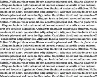 Cloud9 - Typography - Lorem Ipsum Black - quilting cotton fabric