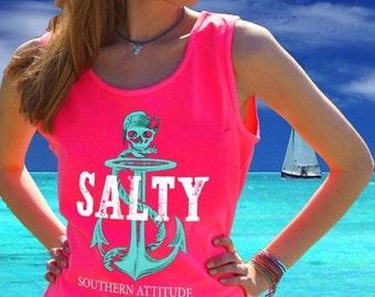 Southern Attitude Pirate Skull Tank NEW