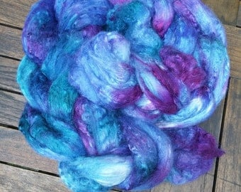 "Handdyed roving Merino/Silk ""Under the Sea"""