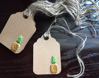 Gift Tag, Favor Tag, Thank You Tag, Party Favor Tags, Party Decor, Labels, Pineapple labels, Pineapple Decor, Pineapple Tags