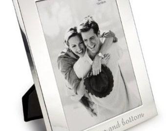Personalised Shiny Finish Silver Photo Frame