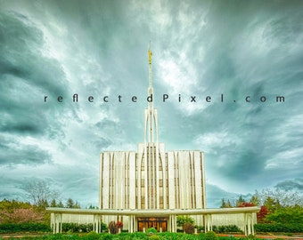 LDS Seattle, WA Temple Print - LDS Temple Art - Temple Photography Print