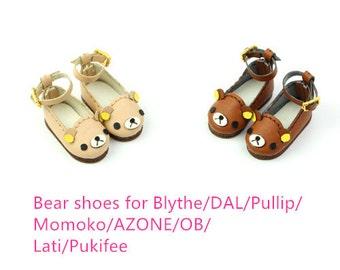 Bear shoes for Blythe/DAL/Pullip/Momoko/AZONE/OB/Lati/Pukifee