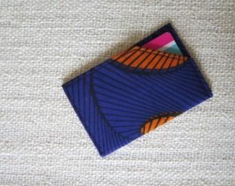 Card holder CB - Format credit card – Super wax blue and ochre