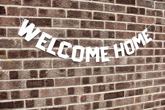 welcome home banner diy paper template