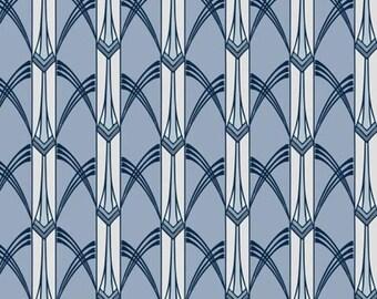 Glisten Deco Marsh Blue  Windham Fabrics 100 % Cotton Quilt BFab