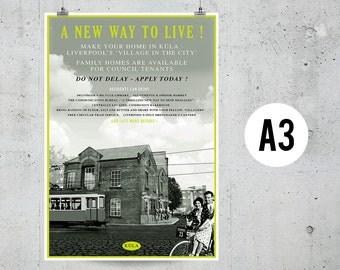 A New Way To Live - A3 Print