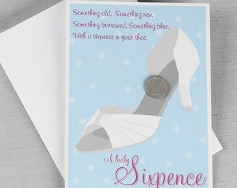 Lucky Wedding Shoe Sixpence/ Lucky Sixpence/ Sixpence Wedding Tradition/ Sixpence Gift for Bride/ Gift for Bride