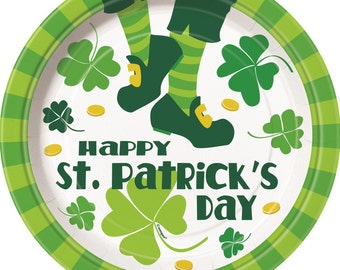 St. Patrick's Day Plates/ St. Patrick's Day Party Supplies/ St. Patrick's Day / St. Patrick's Day Party
