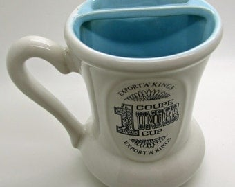 Vintage  Beauceware Moustache Mugs 1 Under Cup  Export 'A' Kings  Cigarettes  Golf - Made In Canada Tobacciana Advertising