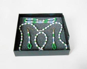 Jewelry - Parure Necklace / Bracelet / earrings for women - tranquility