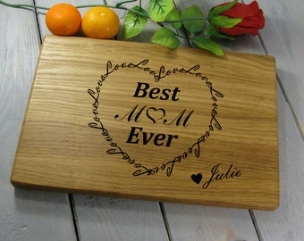 Best Mom Ever, Gift from Kids, Mom Gift, Mothers Day Gift, Mother's Day Gift Cutting Board, Mom Birthday Gift, Gift from Son or Daughter