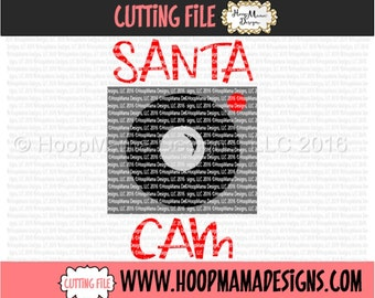 Santa Cam  SVG DXF eps and png Files for Cutting Machines Cameo or Cricut - Christmas Reindeer SVG