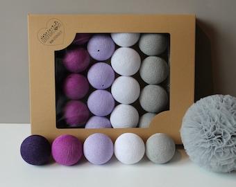 Cotton Balls Violets