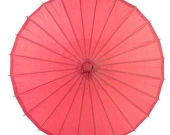 """28"""" Red Paper Parasol Umbrella - 28PP-RD"""