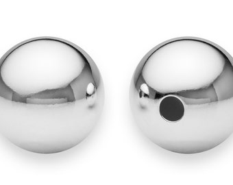 1 Pc 14 mm Sterling Silver Round Bead (SS402014)
