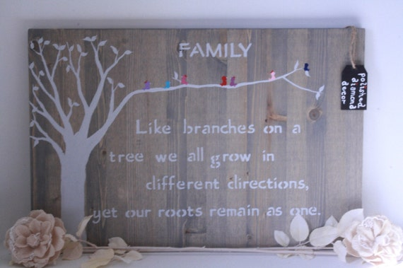 Like Branches On A Tree Quote: Items Similar To Wooden Wall Art