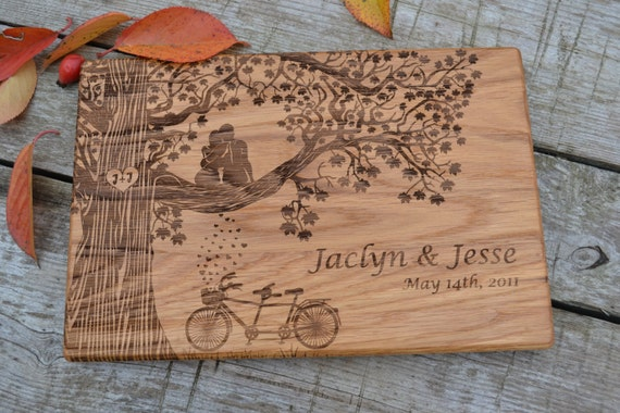 Gift for couple housewarming gift bridal by cuttingboardgift Best housewarming gifts for couples