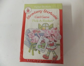 Strawberry Shortcake Vintage Card Game Pick A Basket 1983 Parker Brothers Brand New