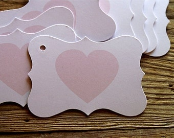 25 Heart Tags, Hang Tags, Gift Tags, Wedding Tags, Product Tags, Wedding Lebels, Valentine Tags