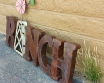Metal Ranch Wall Decor Sign