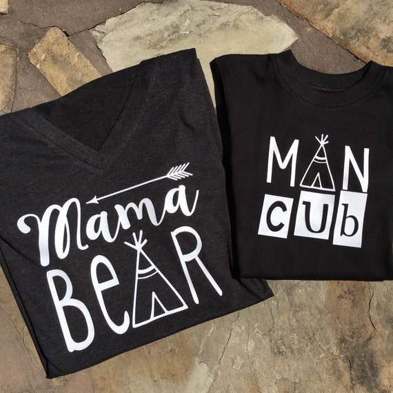 Mama Bear Shirt Momma Bear Womens Mom Life Shirt By
