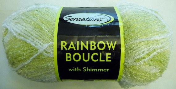 Sensations Rainbow Boucle Yarn Free Crochet Patterns : Jo-Ann Sensations RAINBOW BOUCLE Yarn with Shimmer 11 oz.