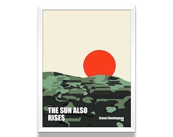 Hemingway Poster, Minimalist Poster, Ernest Hemingway Novel, Gift for Book Lover