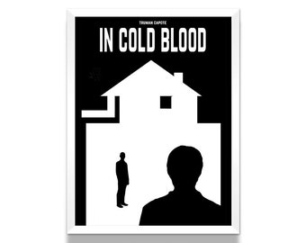 In Cold Blood Poster, Literature Poster, Crime Novels, Book Poster, Minimalist Poster