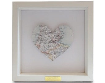 Framed Personalised Amsterdam Heart Map