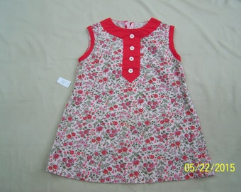 Vintage girls dress of flowers