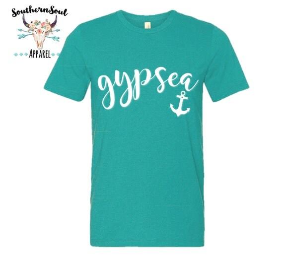 Gypsea Anchor Gypsy Nautical Unisex T Shirt, Country T Shirt, Southern T Shirt, Country Shirt, Gypsy Shirt, Anchor Shirt, Boutique Shirt