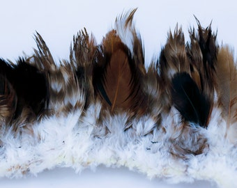 """natural strung plumage feathers 2"""" - 3"""""""
