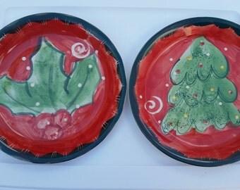Christmas Plates / Christmas Cookie Plate / Santa's Cookies / Santa Plate / Cookie Plate / Christmastime / Christmas / Holiday/Christmas Eve