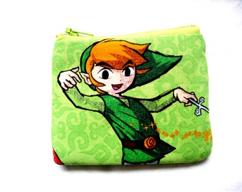 coin purse with cartoon boy made from cartoon fabric