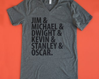"The Office TV show GREY Shirt ""Guys of The Office"" inspired tv Shirt best tv show Tee Michael Scott tshirt Dwight the Office tv show gift"